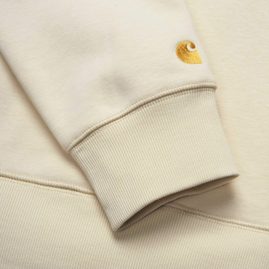 Carhartt WIP - Chase Hooded Sweatshirt - Flour / Gold