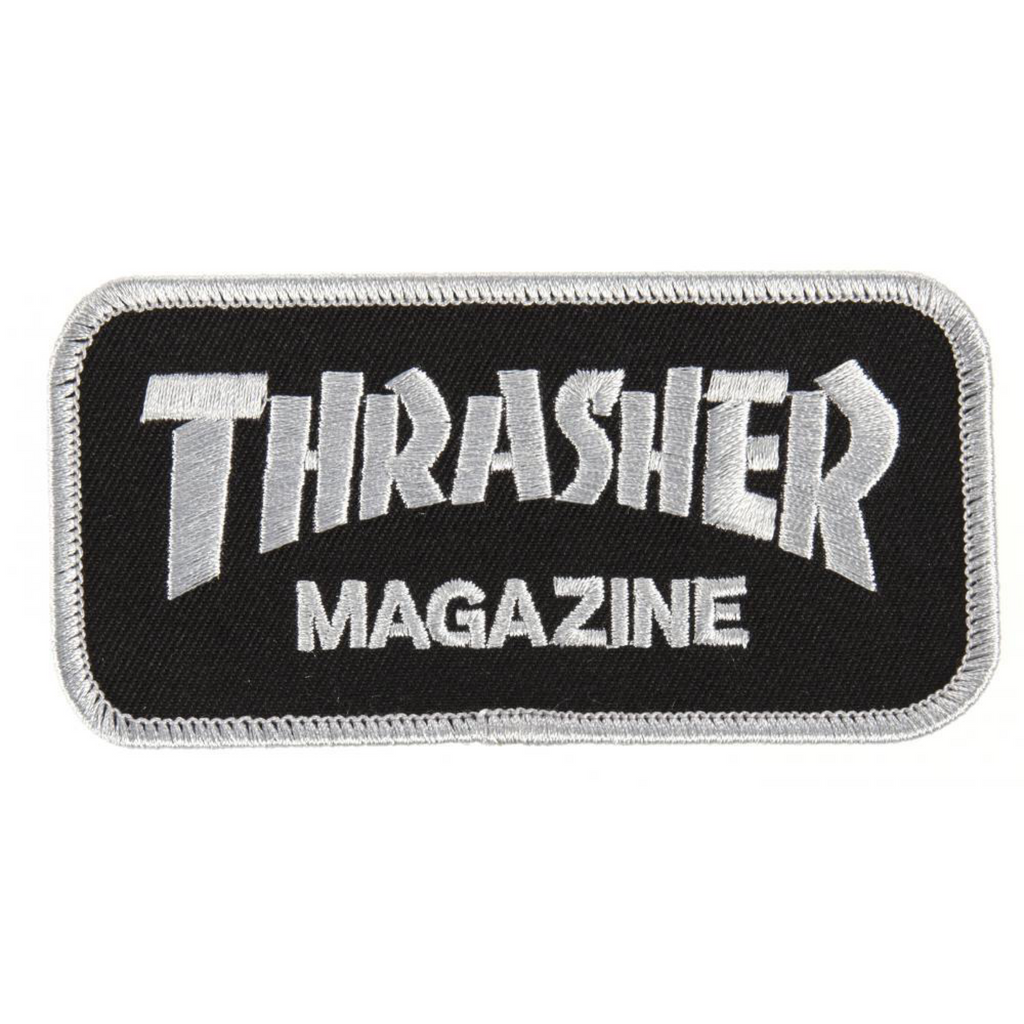 Thrasher - Magazine Logo Patch - Black / Silver