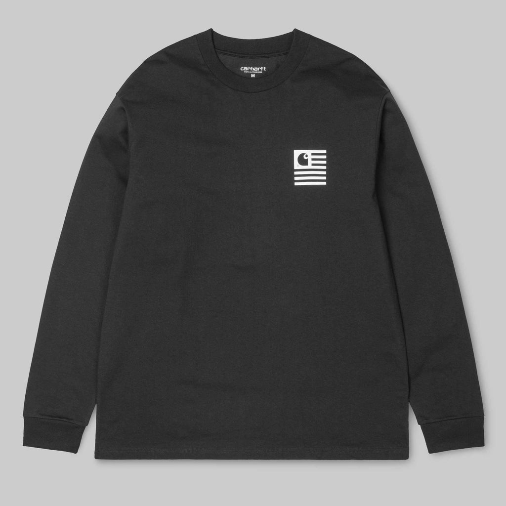 Carhartt WIP - State Patch Longsleeve T-Shirt - Black