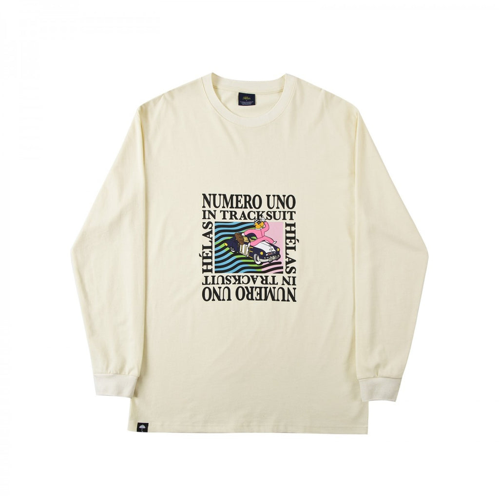 Helas Numero Uno Longsleeve T Shirt Pastel Yellow Welcome
