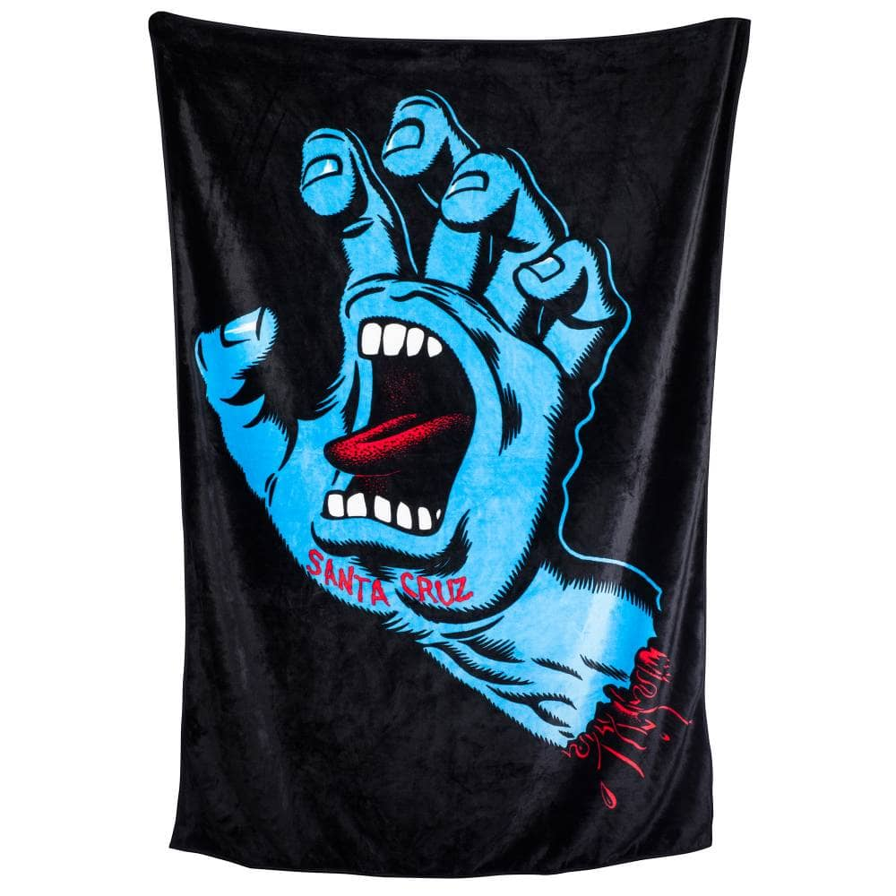 Santa Cruz - Screaming Hand Blanket - Black