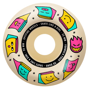 Spitfire - 56mm (99a) Formula Four Skate Like A Girl Radial Skateboard Wheels (Natural)