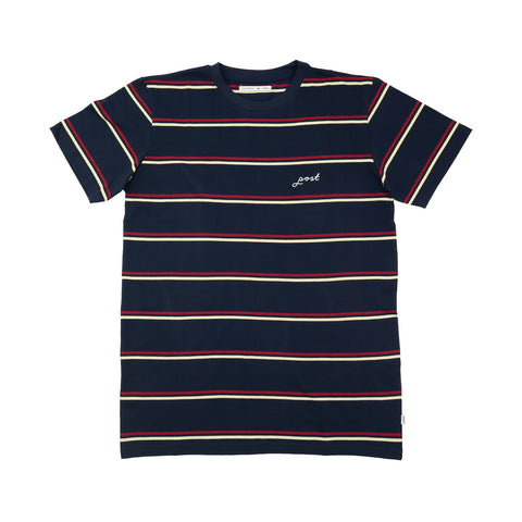Post Details - Striped T-Shirt - Navy