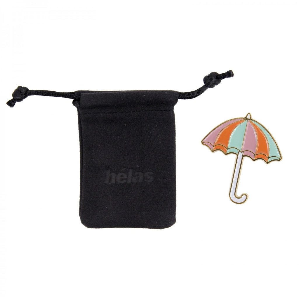 Helas - Umbrella Pin - Pink / Orange / Mint Green