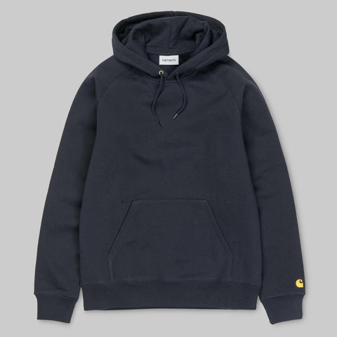 Carhartt WIP - Chase Crewneck Hooded Sweatshirt - Navy / Gold