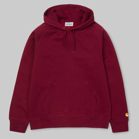 Carhartt WIP - Chase Crewneck Hooded Sweatshirt - Mulberry / Gold