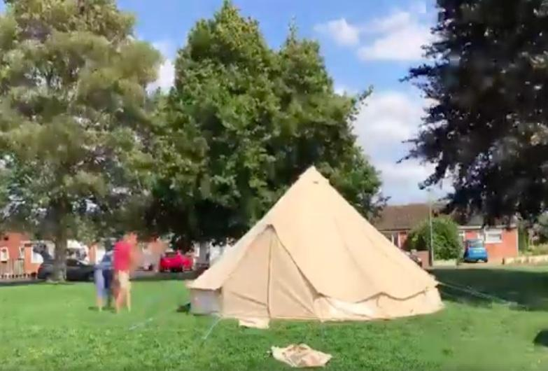 Pitching a 6 Metre Bell Tent by yourself