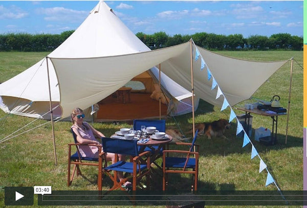 Bell Tent Boutique - Unboxing & Initial Set Up