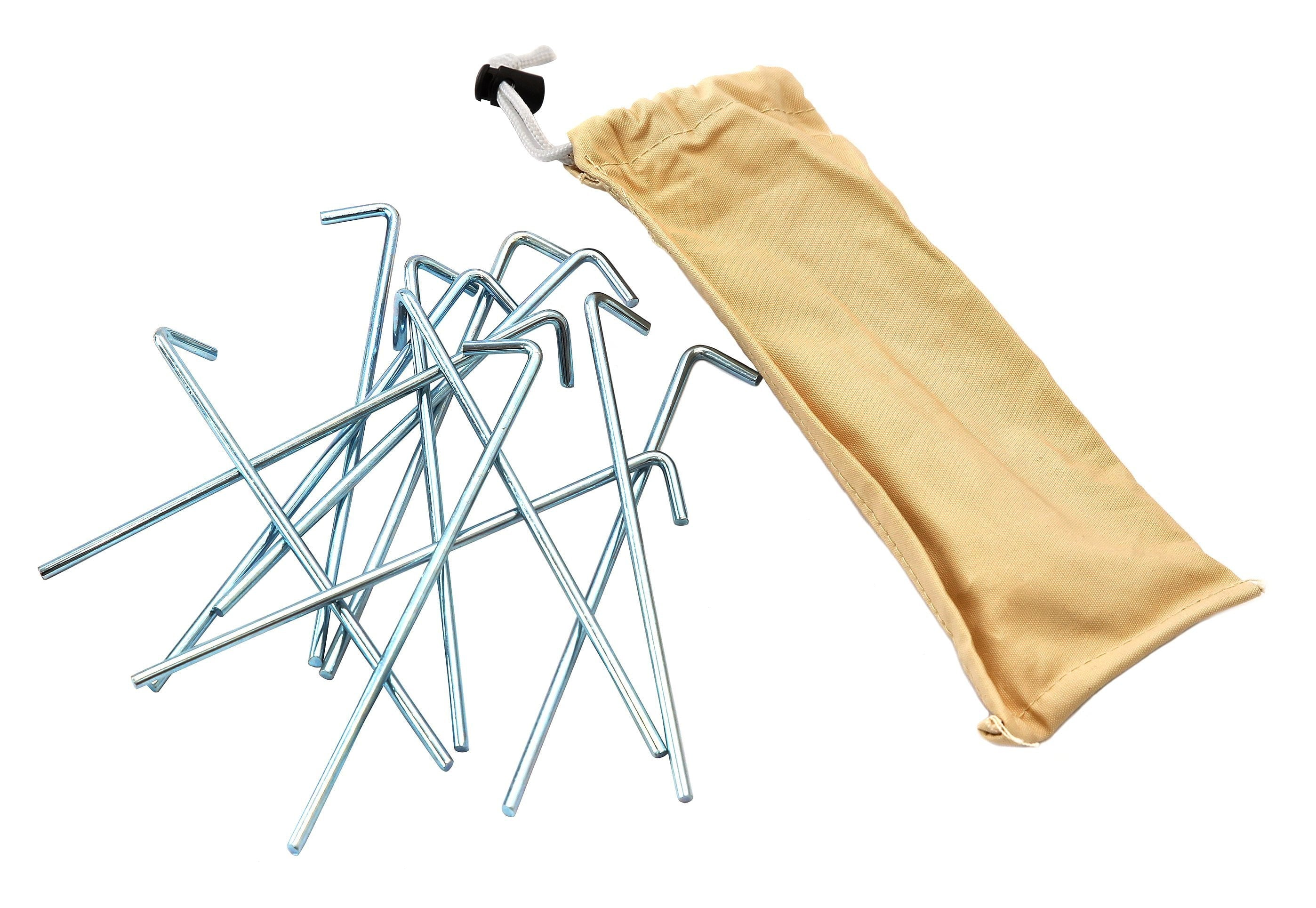 Tents Accessories Pin Pegs & Canvas Bag Set