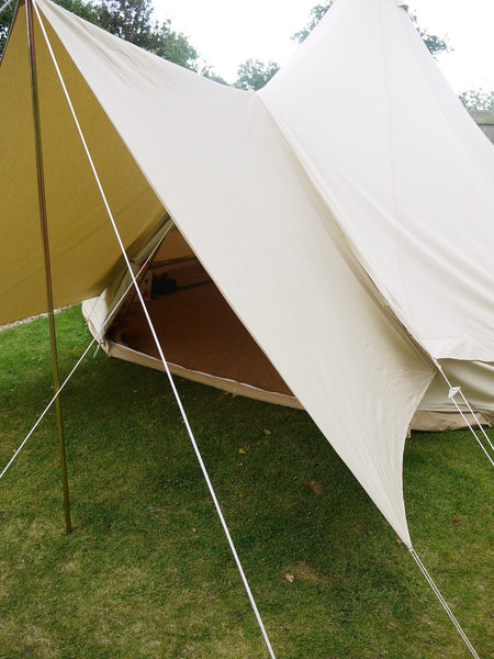 Large Canvas Bell Tent Awning 400 x 240 u2013 2 pole & Large Canvas Bell Tent Awning 400 x 240 u2013 2 pole u2013 Bell Tent Boutique