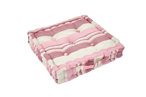 Pink Striped Floor Cushion