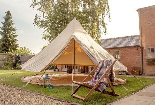 & 5 Metre 360 gsm Fireproof Pro Canvas Bell Tent u2013 Bell Tent Boutique