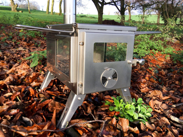 Outbacker® Firebox 'Flame' Clear View Stainless Steel Portable Tent Stove