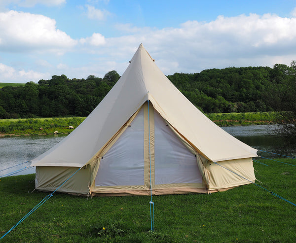 5 Metre Double Door Canvas Bell Tent