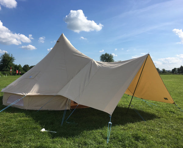 Large Canvas Bell Tent Awning 400 x 240 – 1 pole