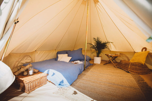 5 Metre 360 gsm Fireproof Pro Canvas Bell Tent