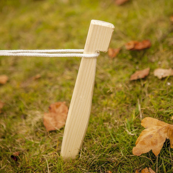 Wooden Tent Peg Set 9