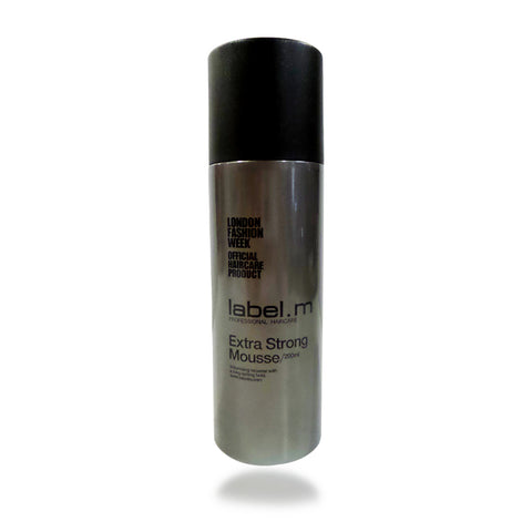 Label. M Extra Strong Mousse 200 ml / 6.8 oz