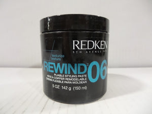 Redken Rewind 06 Pliable Styling Paste, 5 oz