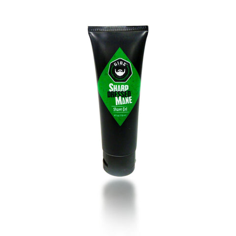 Gibs Sharp Dressed Mane Shave Gel, 4 oz