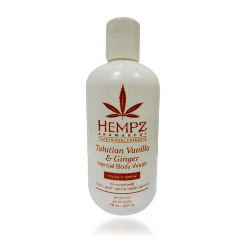 Hempz Tahitian Vanilla & Ginger Body Wash, 8 oz