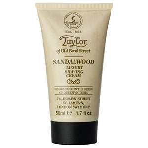 Taylor of Old Bond Street Sandalwood Luxury Shaving Cream, 1.7 oz