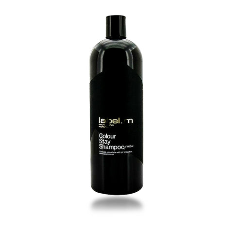 Label. M Colour Stay Shampoo, 33.8 oz