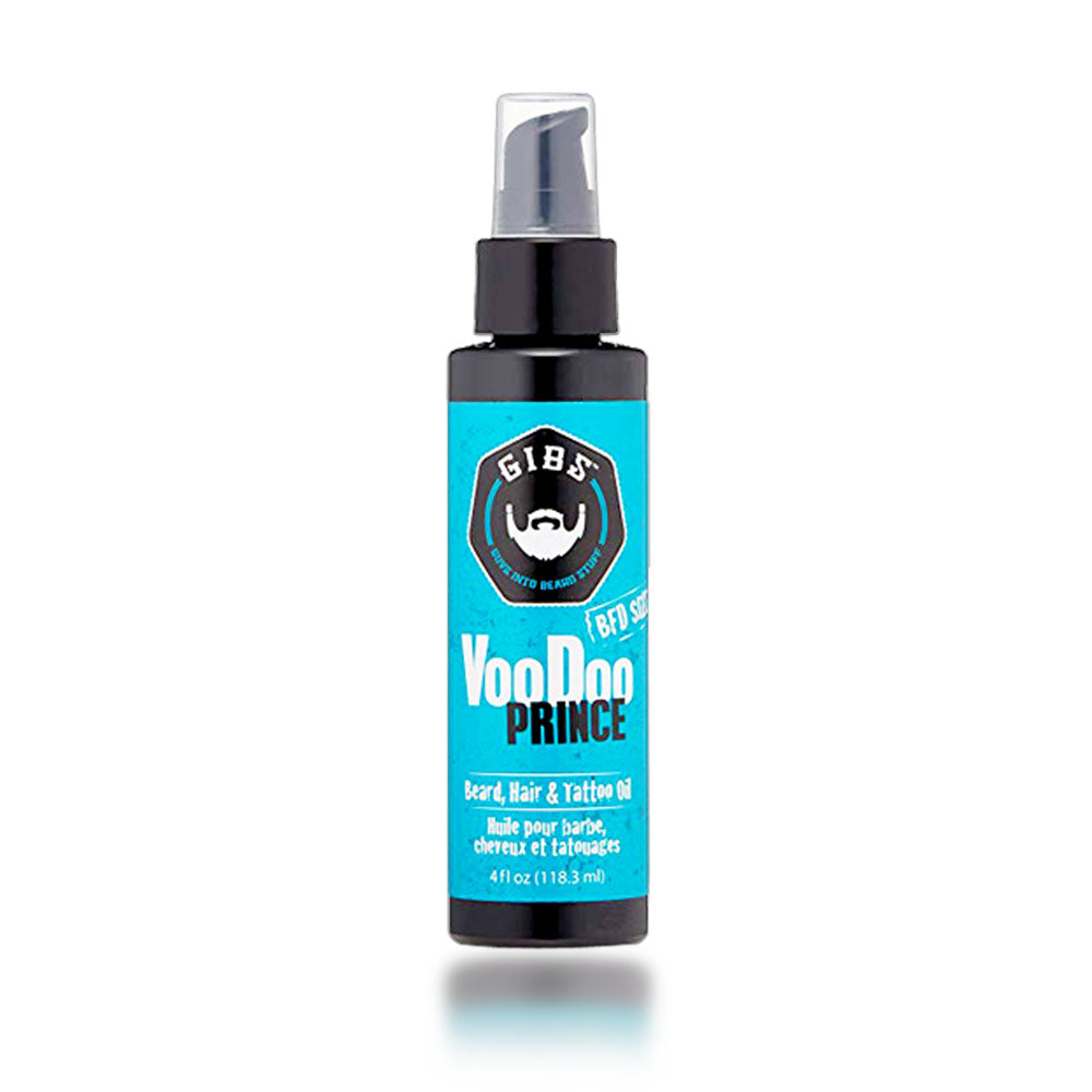 Gibs Voodoo Prince Beard, Hair & Tattoo Oil, 4 oz