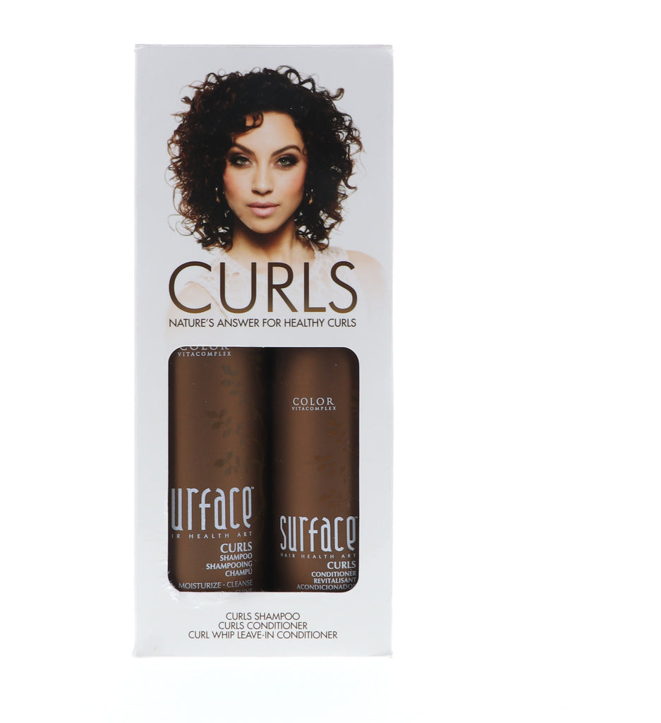 Surface Trio Curls Shampoo 10 oz , Conditioner 6 oz , Curl Whip Mousse 5.5 oz