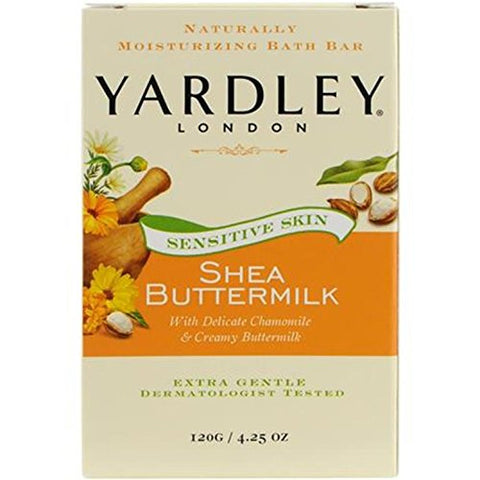 Yardley Shea Buttermilk Bath Bar, 4.25 oz