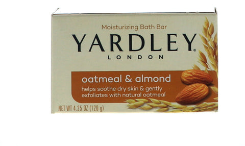 Yardley Oatmeal & Almond Bath Bar, 4.25 oz