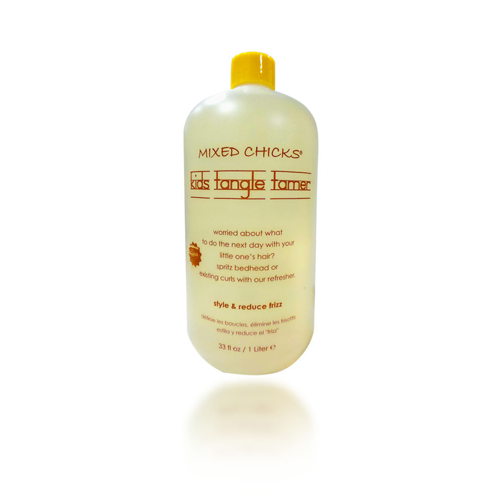 Mixed Chicks Kids Tangle Tamer, Clear Yellow, 33 Ounce