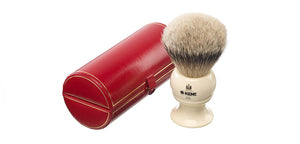 Kent BK12 - Traditional king sized, pure silver-tipped badger brush.
