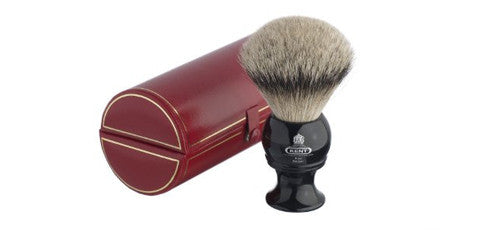 Kent BLK12 - Traditional king sized, pure silver-tipped badger brush.