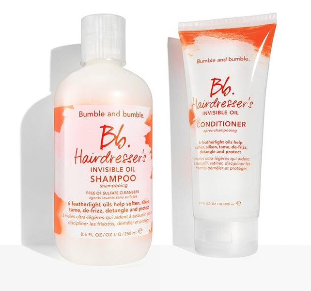 Bumble and bumble Hairdressers Invisible Oil Shampoo 8.5 ounce-Bumble And Bumble Bb. Hairdresser's Invisible Oil Conditioner 6.7Oz