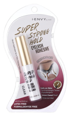 Kiss I Envy Eyelash Adhesive Super Strong Hold Clear, 0.17 oz
