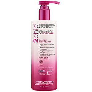 Giovanni 2Chic Cherry Blossom and Rose Petals Ultra-Luxurious Conditioner, 24 oz