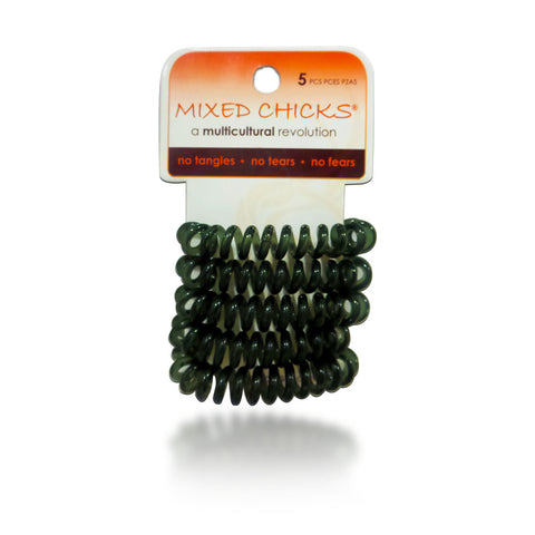 Mixed Chicks Clear Spring Bands Charcoal