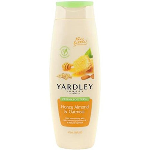 Yardley Honey Almond & Oatmeal Bath & Shower Gel, 16 oz