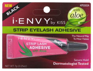 Kiss I-Envy Aloe Infused Strip Lash Glueblack, 0.25 oz