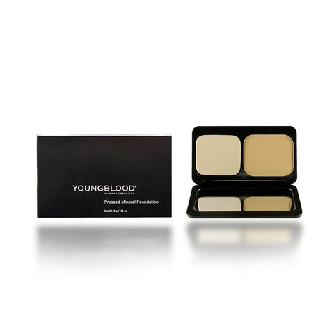 Youngblood Pressed Mineral Foundation, Warm Beige, 8 Gram/0.28 oz