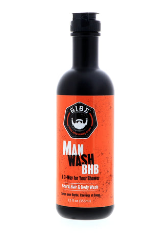 Gibs Man Wash Beard, Hair & Body Wash, 12 oz