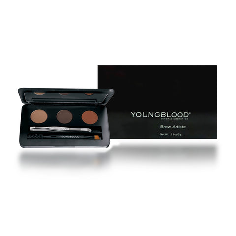 Youngblood Mineral Brow Artiste Cosmetics Kit Dark Compact 0.11 oz