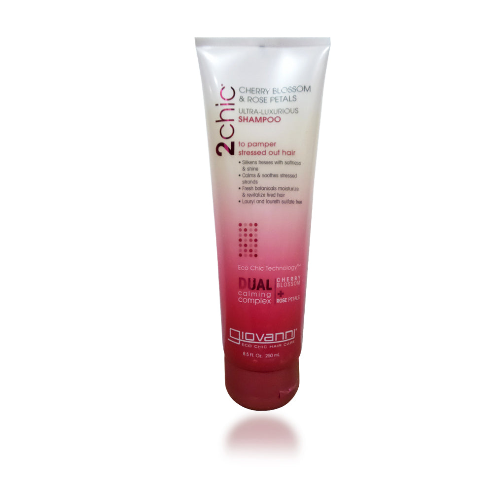 Giovanni 2Chic Cherry Blossom and Rose Petals Ultra-Luxurious Shampoo, 8.5 oz