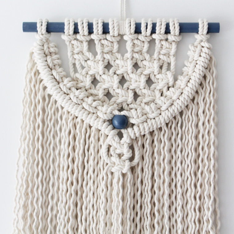navy detailed Wall hanging