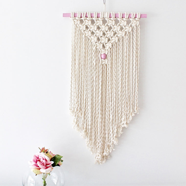 Pink detailed Wall hanging