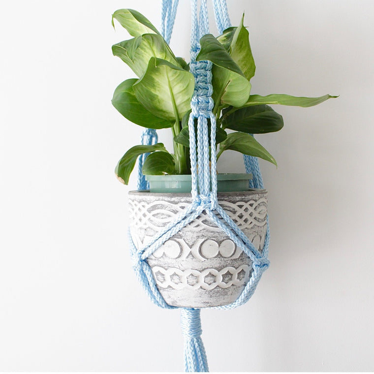 Baby Blue Classic Plant Hanger