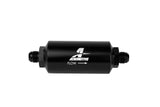 Aeromotive In-Line Filter - AN-08 size Male - 10 Micron Microglass Element - Bright-Dip Black