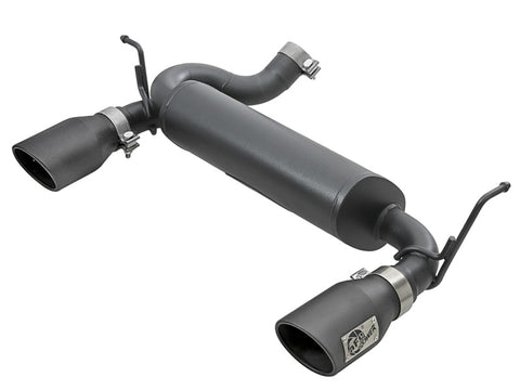 aFe Rebel Series 2.5in 409 SS Axle-Back Exhaust w/ Black Tips 2007+ Jeep Wrangler (JK) V6 3.6L/3.8L
