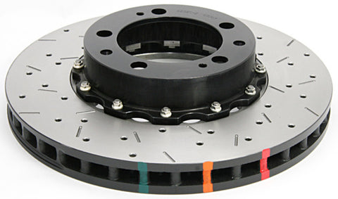 DBA 95-97 Porsche 911 Carrera Front T3 5000 Series Uni-Directional Slotted Rotor w/ Black Hat